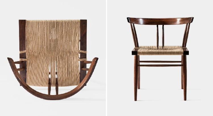 George Nakashima's grass-seated chair.