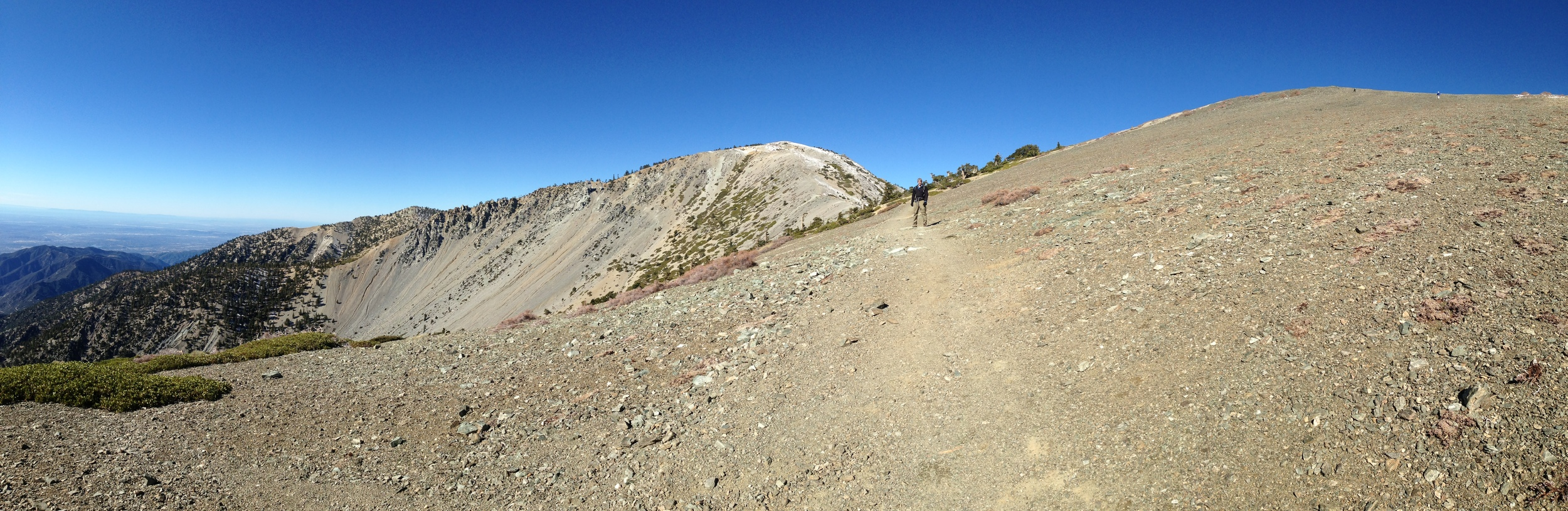 The final approach up to the Baldy Summit.  I'm there on the trail looking tiny.