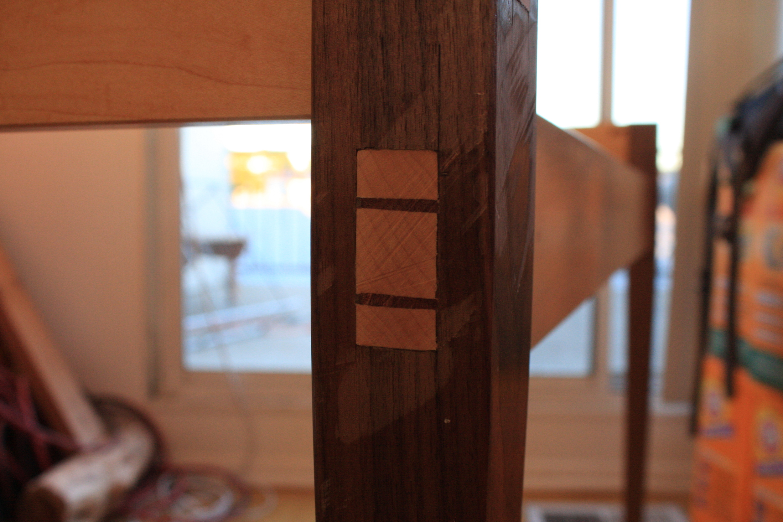 Other wedge joint. You can see the marking gauge marks where I overshot things. :-( Still learning!