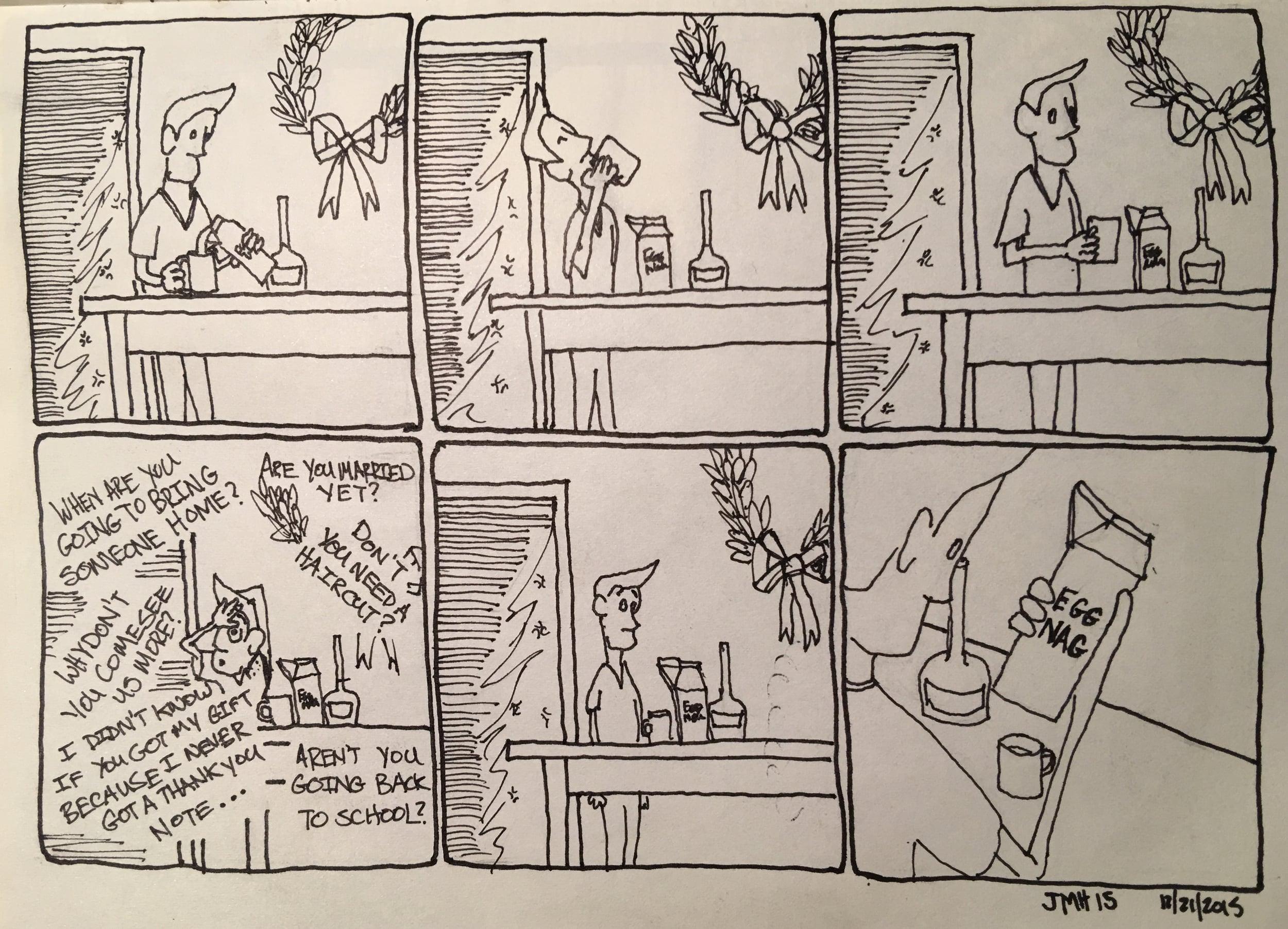 Holiday comics: dad joke?