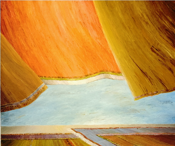 Wind of the Orient - Vent d'Orient, 2009, 50x70cm, oil and pastel on paper - huile and pastel sur papier, personal collection - collection personelle