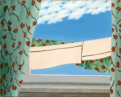 Abstraction: Window - Abstraction a la Fenetre, 1995, 40x50cm, oil on canvas - huile sur toile, sold - vendu