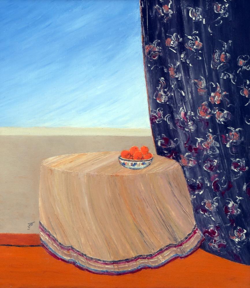 Oranges Oranges, 2003, 40x50cm, oil on paper - huile sur papier, sold - vendu