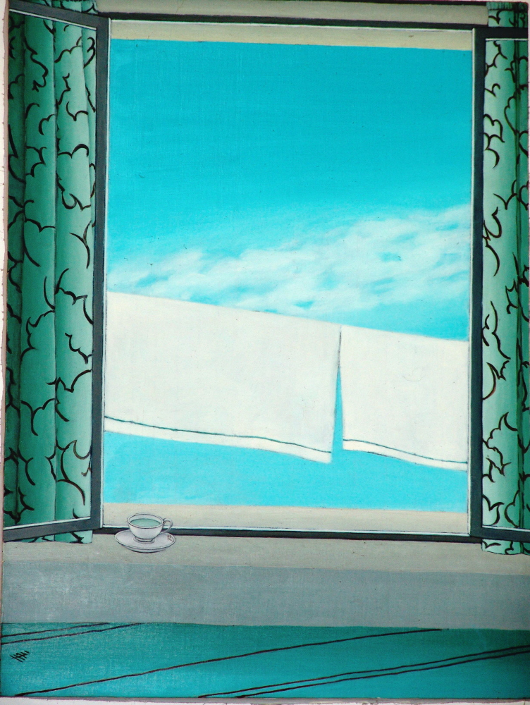 Abstraction: Window II - Abstraction a la Fenetre, 1994, 40x50cm, oil on canvas - huile sur toile, sold - vendu