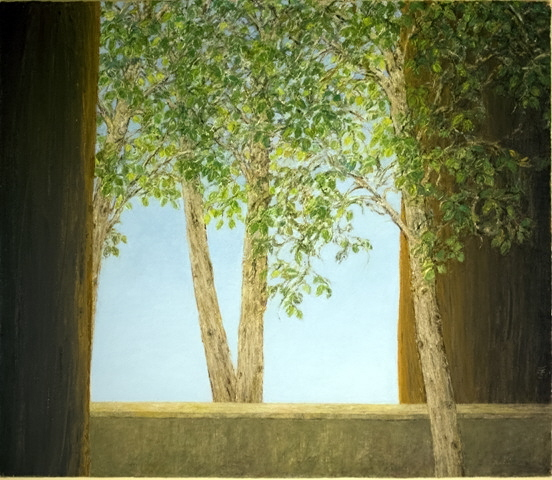 Calmness of the Leaves - Tranquillite des Feuilles, 2010, 60x70cm, oil on canvas - huile sur toile, sold - vendu