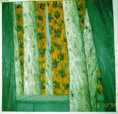 Metamorphose I - Metamorphosis I, 2000, 45x43cm, oil and pastel on carboard, huile et pastel sur carton, sold - vendu