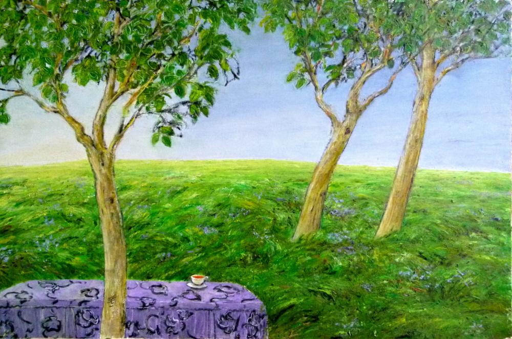 Summer - Ete, 2008, 50x70cm, oil on canvas - huile sur toile, sold - vendu