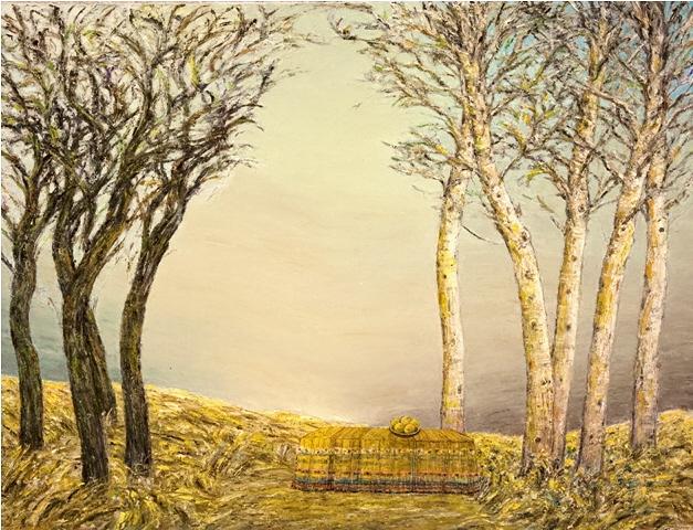 Black Trees, White Trees - Arbres Noirs, Arbres Blancs, 2008, 90x70cm, oil on canvas - huile sur toile, sold - vendu