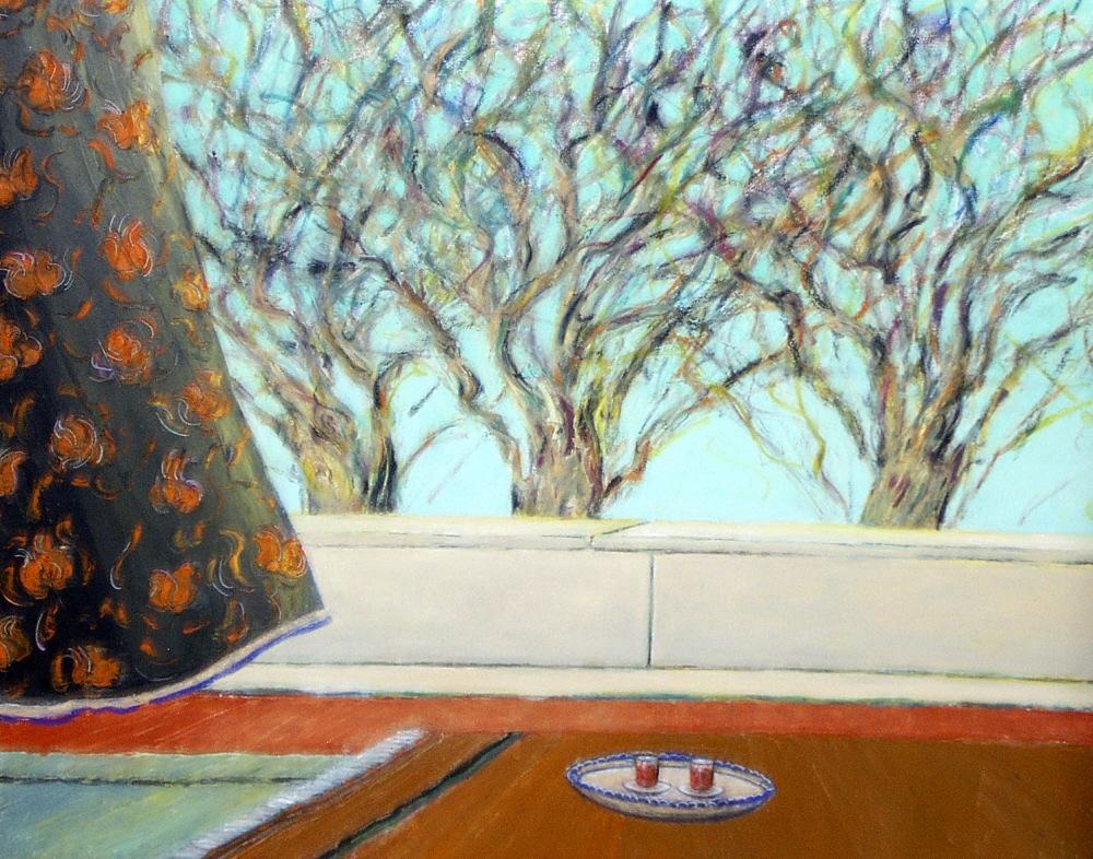 Tea Tray - Plateau a the, 2000, 30x40cm, oil on canvas - huile sur toile, sold - vendu