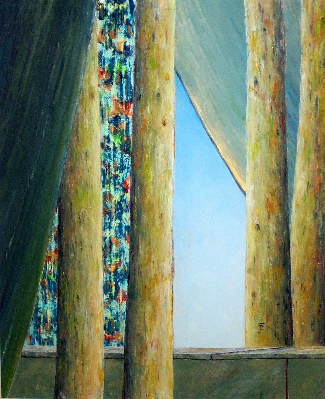 Untitled - San titre, 2003, 40x50cm, oil on paper - huile sur papier, sold - vendu