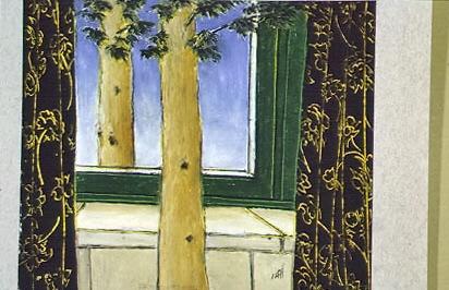 Untitled - San Titre, 1997, 24x30cm, oil pastel on carboard - pastel gras sur carton, personal collection - collection personelle