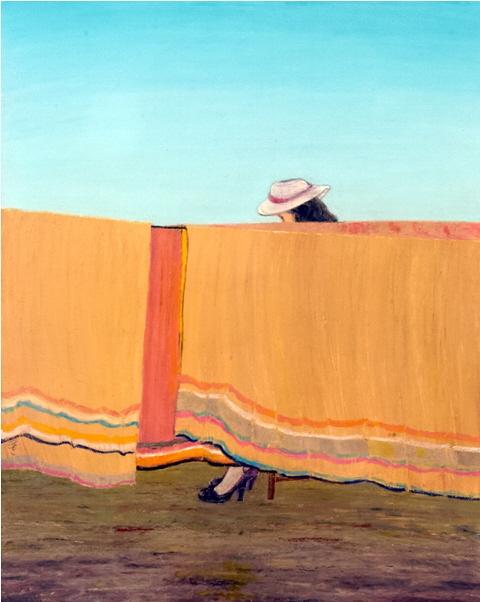Woman with Hat - Femme au Chapeau, 2003, 40x50cm, oil on canvas - huile sur toile, sold - vendu