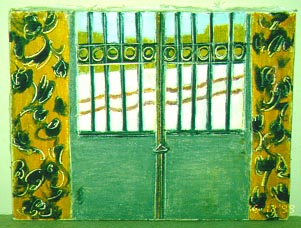 Oriental Gate-Porte Orientale, 2000, 25x35 cm, oil pastel on paper-pastel gras sur papier, sold-vendu