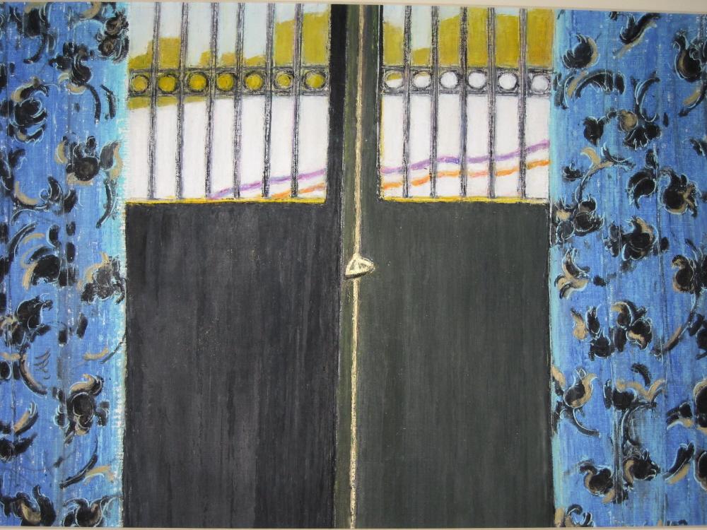 Black and Blue-Noir et Bleu, 2006, 30x45 cm, oil on paper-huile sur papier, sold-vendu