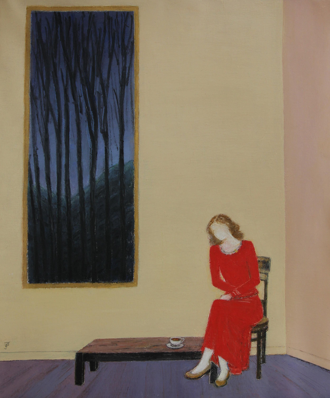 Femme en Rouge, 2012, huile sur toile