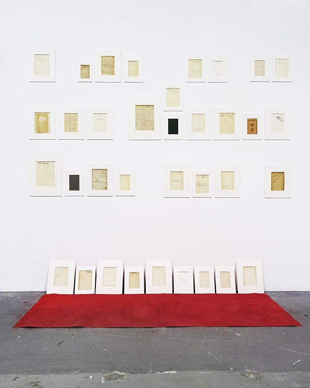 """Flashback to my installation titled """"Untitled"""" at Platforms Projects in Athens 2018.  Knowledge, experience, memory, and forgetfulness are all woven together in my installation titled """"Untitled"""". Front-end and title-pages of old books and philosophical essays, marked by former owner's inscriptions, signatures and scribbles, connect the past with the future, in a poetical reflection on lost, forgotten and fragmented chapters from the script of human history.  #contemporaryart #arte #conceptualart #loewendahlatomic #installationart #installationartist #installation #artwork #artist  #artofinstagram  #artecontemporane #conceptual  #artegrams  #conceptualism  #supportartists  #visualart  #kunst #books #zeitgenössishekunst #artlovers #artwork  #memory #history  #kunstliebe #artoninstagram #artsy #artoftheday #artstagram #contemporarycurator"""