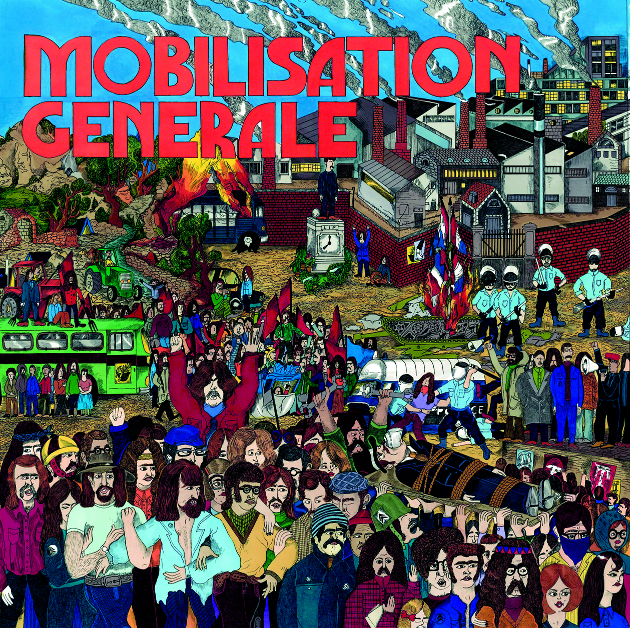 "Protest & Spirit Jazz from France 1970-1976  NEW  Mobilisation Générale (Born Bad Records) 2013, France  EXCLUSIVE PRE-ORDER. We are very proud to announce the release of ""Mobilisation Générale"" : Protest & Spirit Jazz from France 1970-1976, our (fully licensed) new jazz compilation in collaboration with Born Bad Records. This time, we have gathered some fine protest & esoteric jazz songs featuring a few big names of the french jazz scene and also a few tunes that you have probably never heard. Double lps album including : Le Collectif du Temps des Cerises, Baroque Jazz Trio, Alfred Panou, Mahjun, François Tusques, Full Moon Ensemble, Chêne Noir, Areski Belkacem & more ... Pre-order only at Diggersdigest before the official release on mid December."
