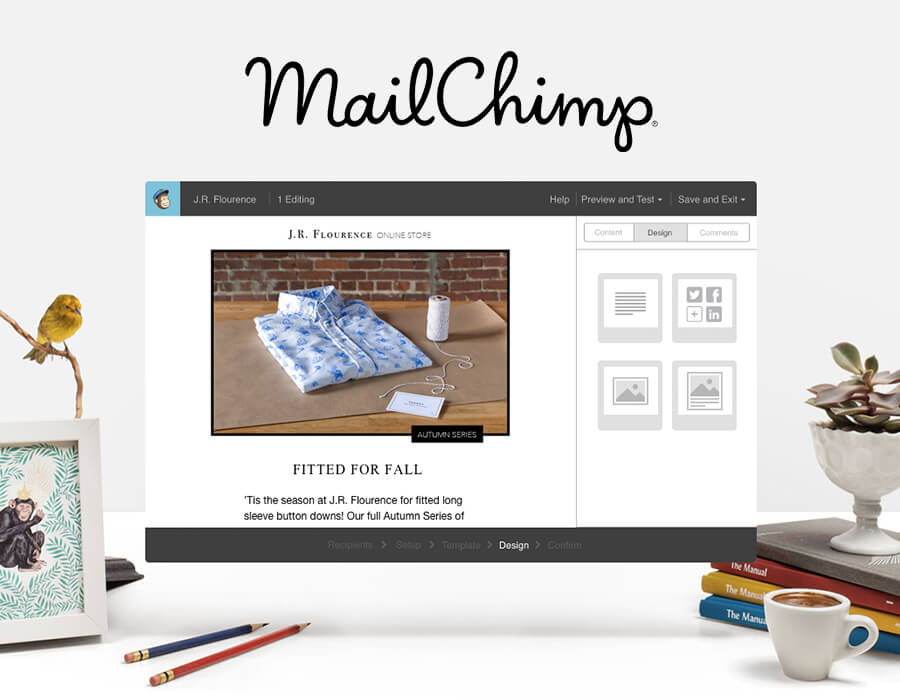 Newsletter / Emails - MailChimp makes it easy to create and send customized newsletters and emails. We really appreciate how they've made it simple to walk through the process of creating a newsletter that looks good and can be styled to fit well with our brand.