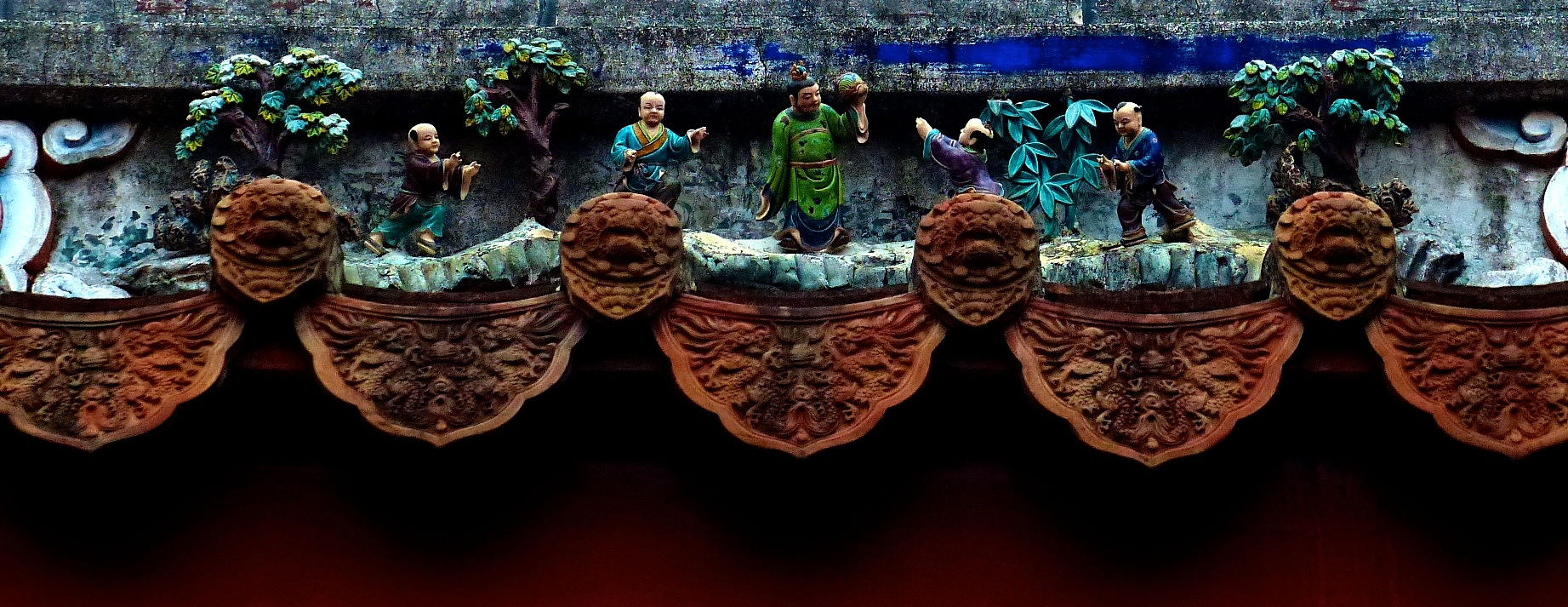 Ceramic rooftiles from a temple in the National Center for Traditional Arts, Yilan