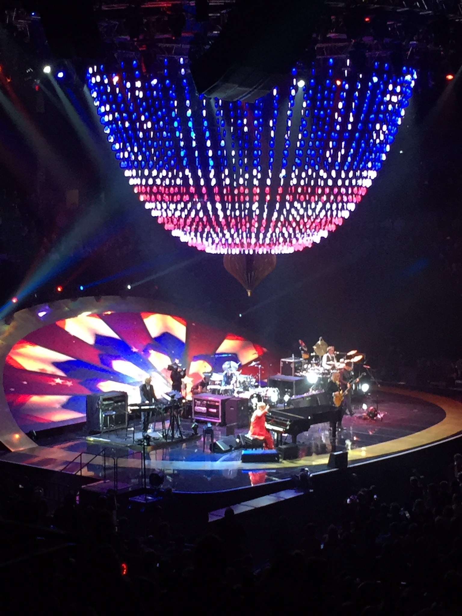 Elton John performing on New Year's Eve at The Barclay's Center in Brooklyn