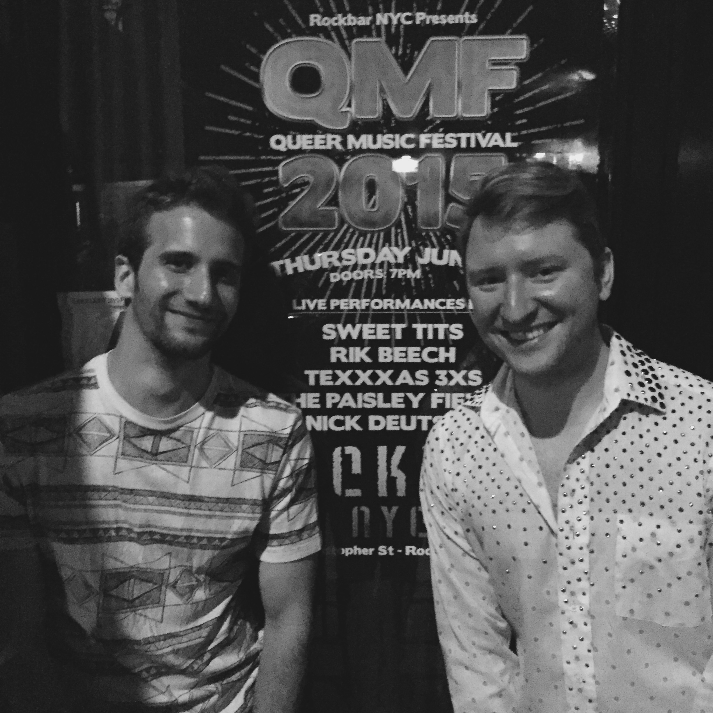 With Nick Deutsch last night, another performer at the Queer Music Festival.