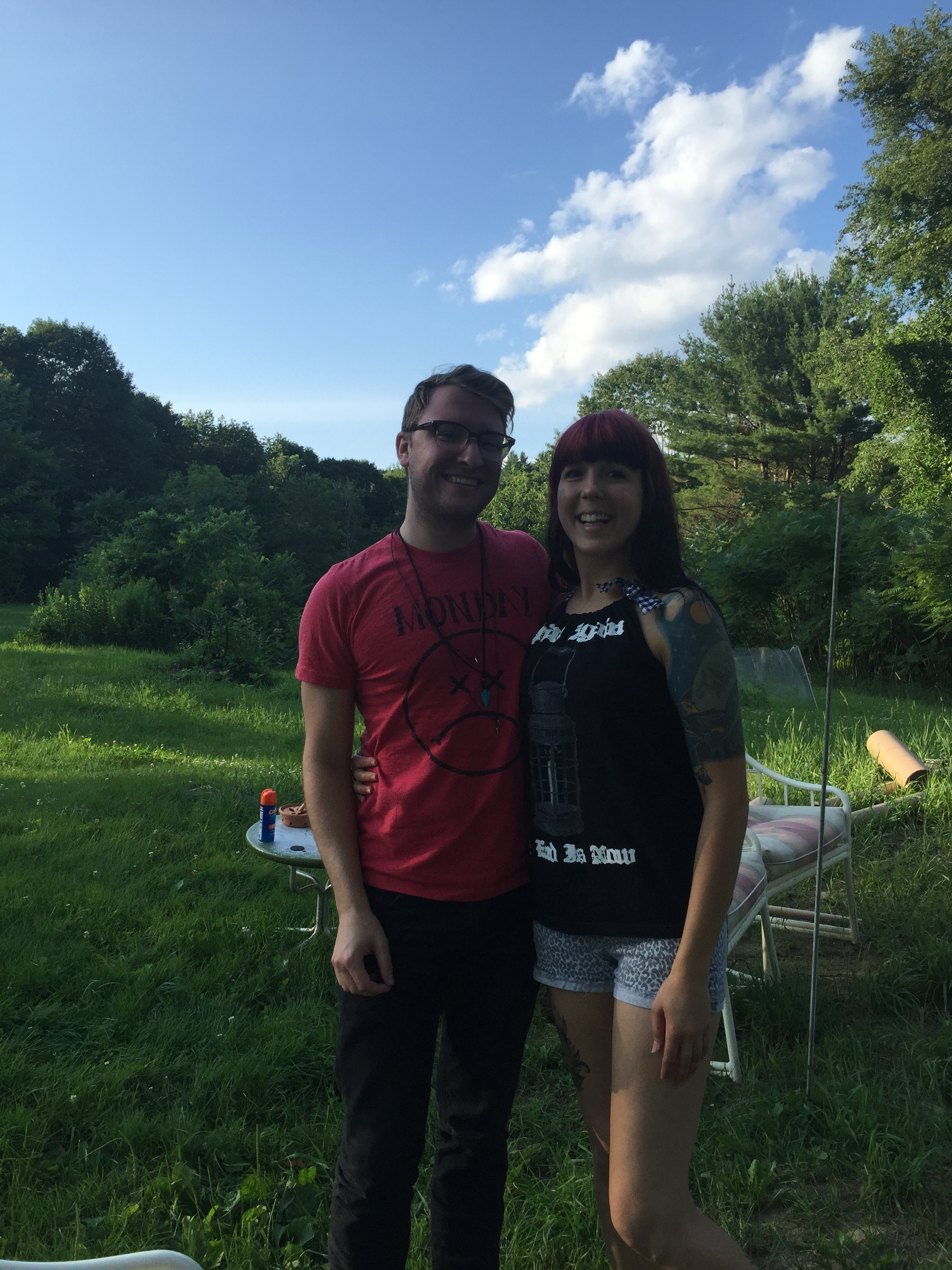Visiting my good friend Sam for a BBQ andbonfire last week on our day off.