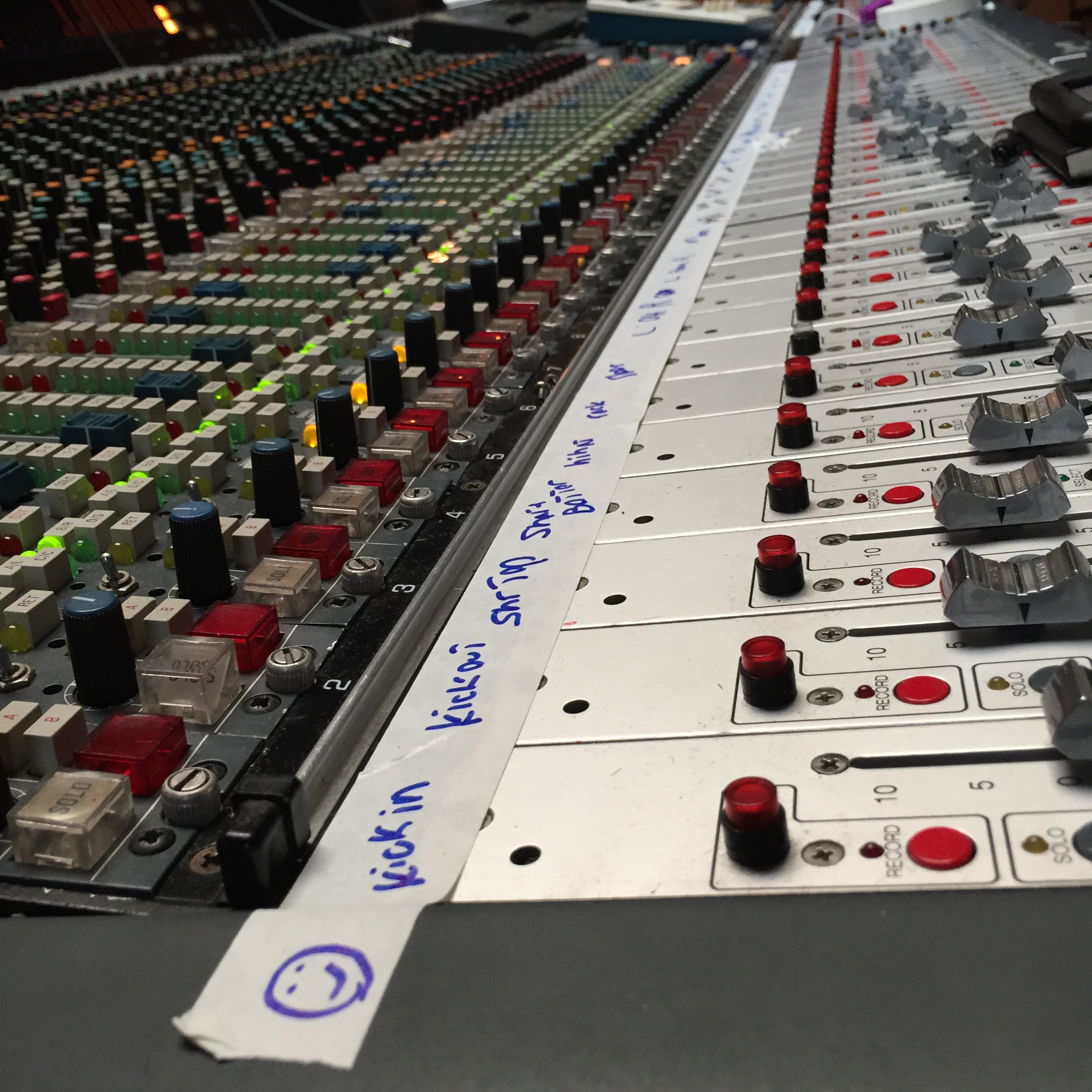 "The soundboard at Atomic Studios, where The Paisley Fields recorded ""Oh These Urban Fences..."" due out in September 2015."