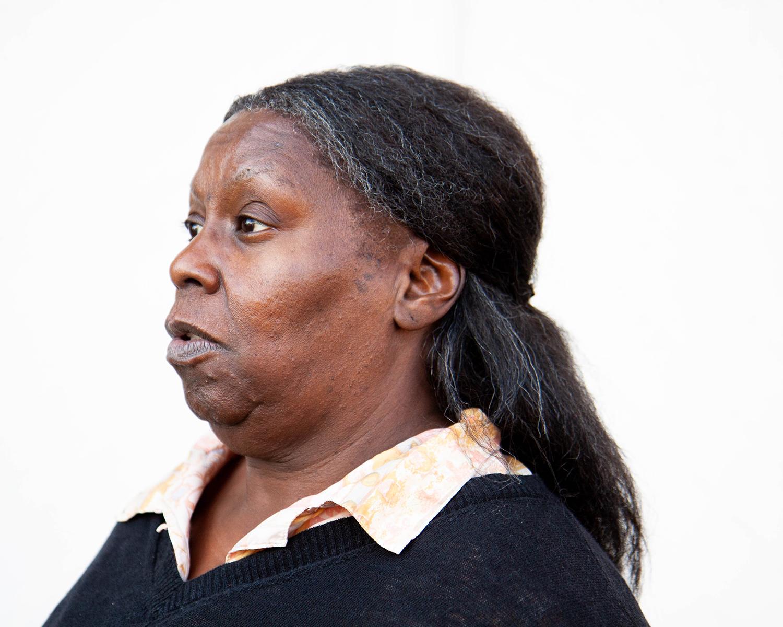 Woman's Profile in Black Sweater