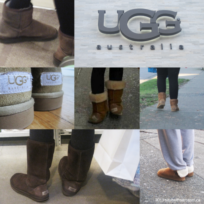 "Uggs + yoga pants = ""I give up"""