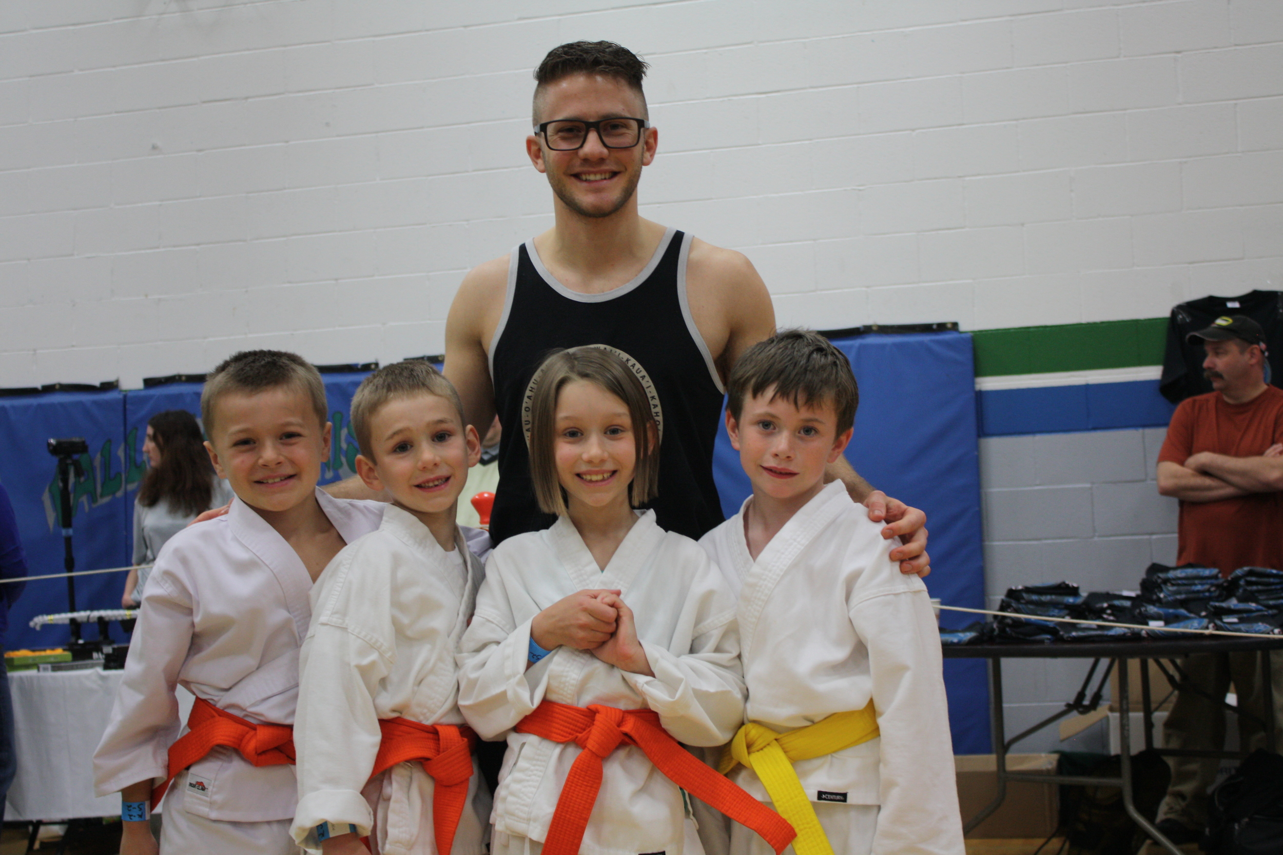 Me with my little ninjas before our tournament