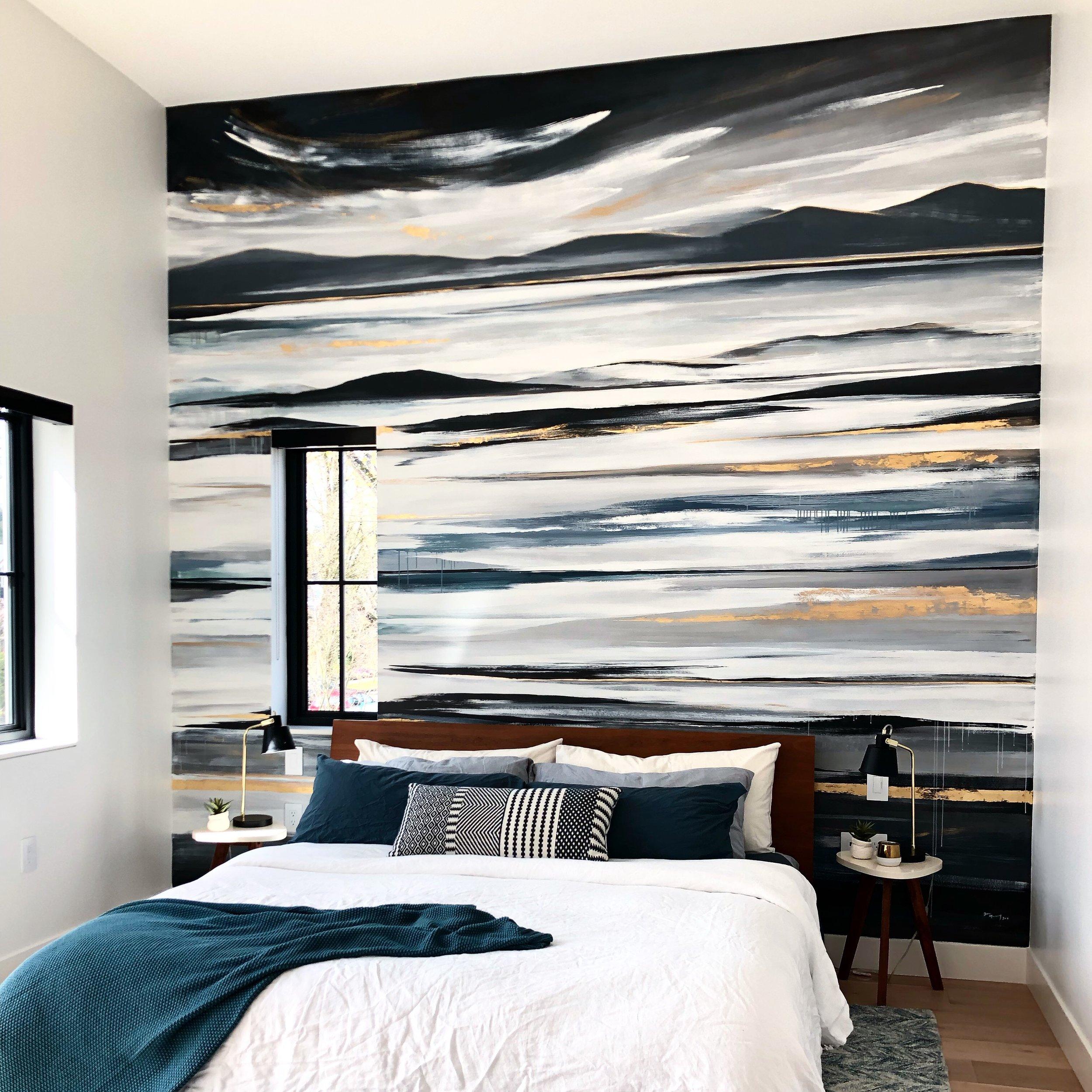 Bedroom Mural, Kitsilano Vancouver BC