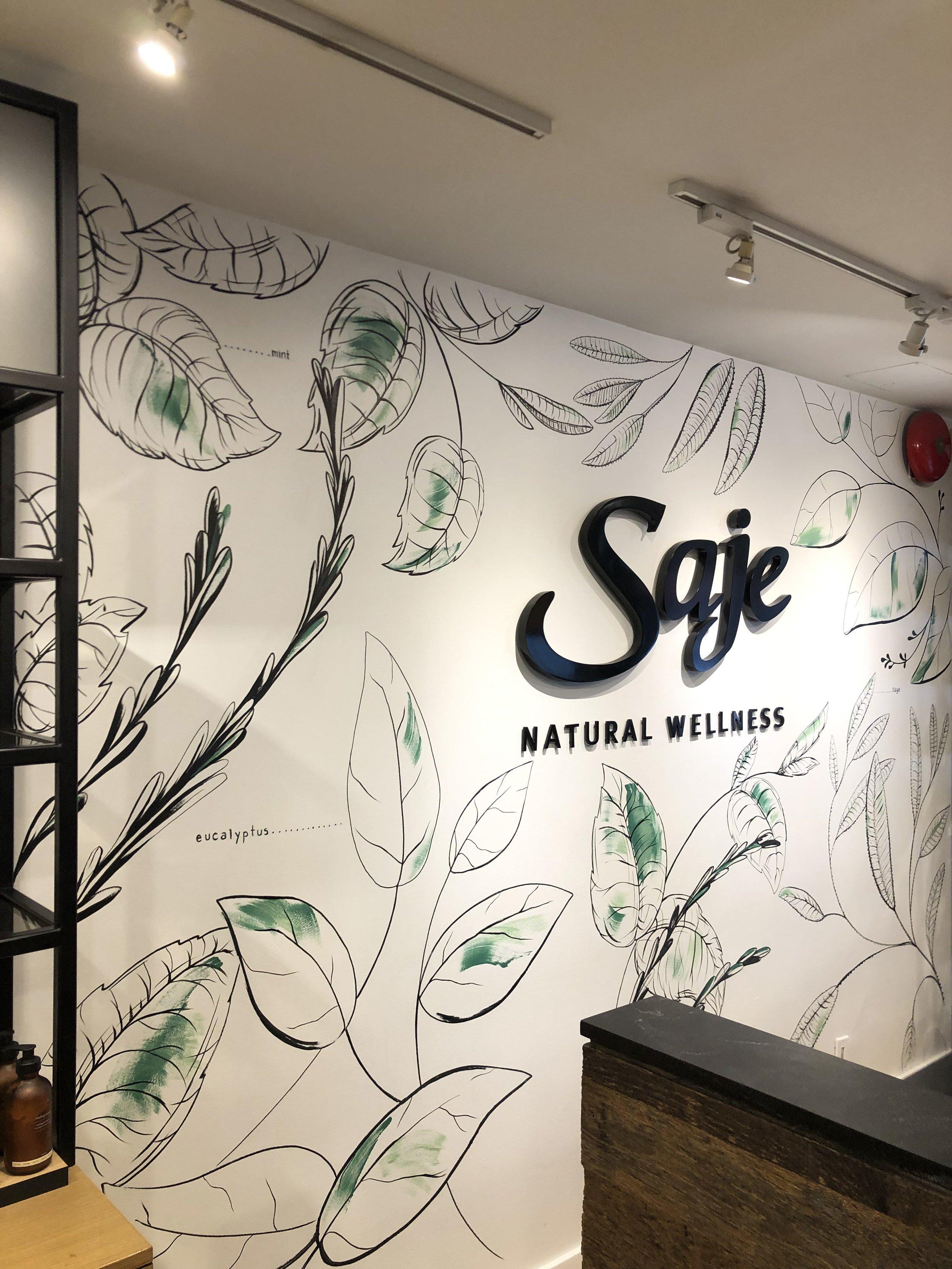 Mural for Saje Natural Wellness, Kitsilano Vancouver