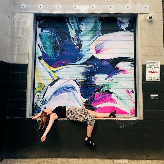 "Public Art Alley, Downtown Vancouver ""Canvas Corridor"""