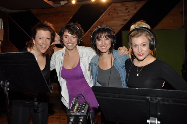 "Shannon was recently in studio recording ""Christmas is Tonight,"" an original song by  Kinky Boots  Music Director Brian Usifer and cast member Mia Gentile for Broadway's 2016 Edition of Carols for a Cure benefiting Broadway Cares Equity Fights AIDS.  Get your copy here:  http://broadwaycares.stores.yahoo.net/caforcu20vo16.html   Pictured left to right: Jennifer Perry, Mia Gentile, Shannon O'Boyle and Lauren Chapman"