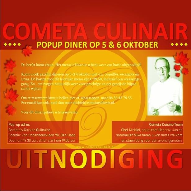 Aan de herfst wordt hard gewerkt.  Gelukkig is het herfstmenu klaar. Doe je mee 5 of 6 oktober?  #herfstdiner #popupdining #denhaag