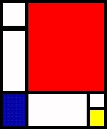 Composition II in Red | Mondrian