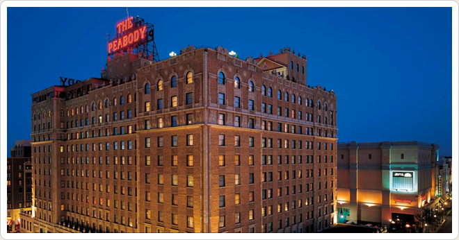 PHOTO CREDIT:  Above photo of The Peabody Hotel is from  the Hotel's website .