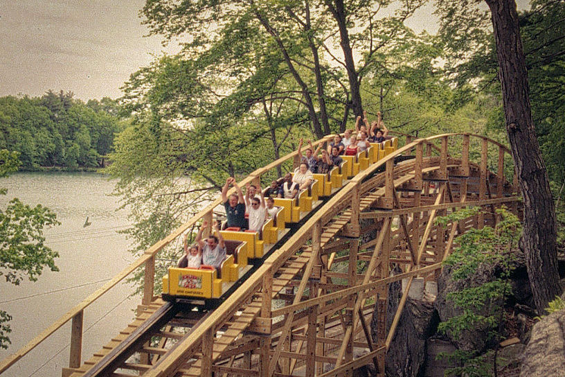 PHOTO CREDIT:  An old-fashioned wooden roller coaster ride at Lake Compounce, one of the film locations of And So It Goes. Photo is from  Reel-Scout's online film location library .