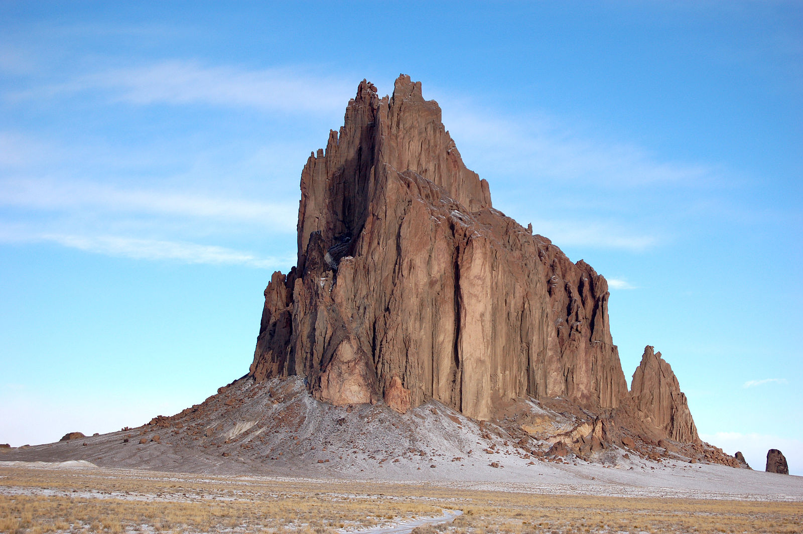 PHOTO CREDIT:  Shiprock, New Mexico - one of the film locations of The Lone Ranger. (Photo is from  here . )