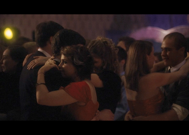 PHOTO CREDITS: Above images at the dance are screenshots from the movie.
