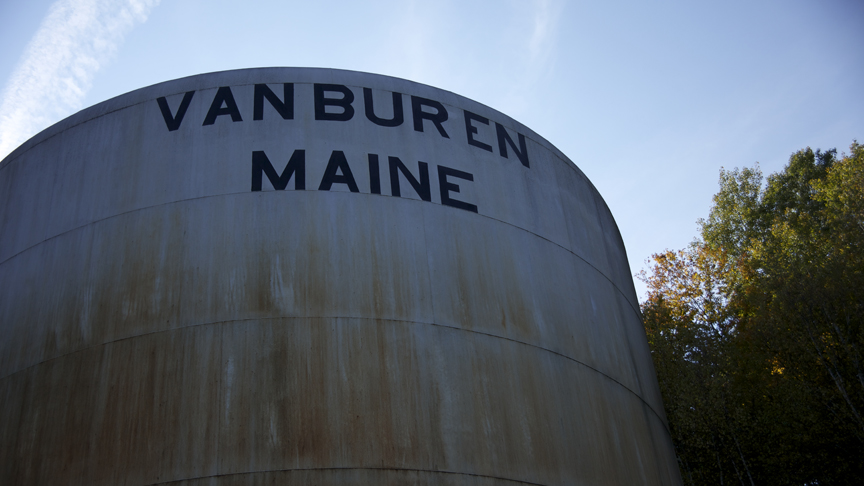 PHOTO CREDIT: Movie still featuring the Van Buren water tower - photo from the  movie's official website  .