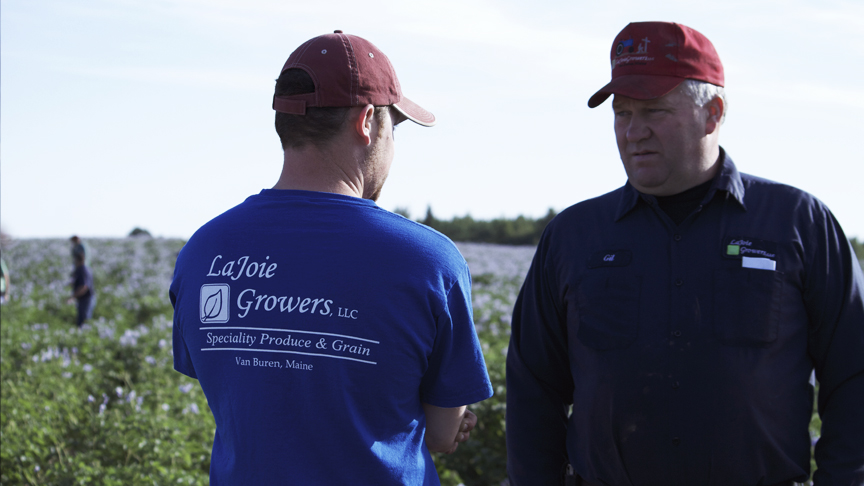 PHOTO CREDIT: Behind-the-scene photo of Jay LaJoie and Gil LaJoie on their farm during the film's first day of production - photo from the  movie's official website  .