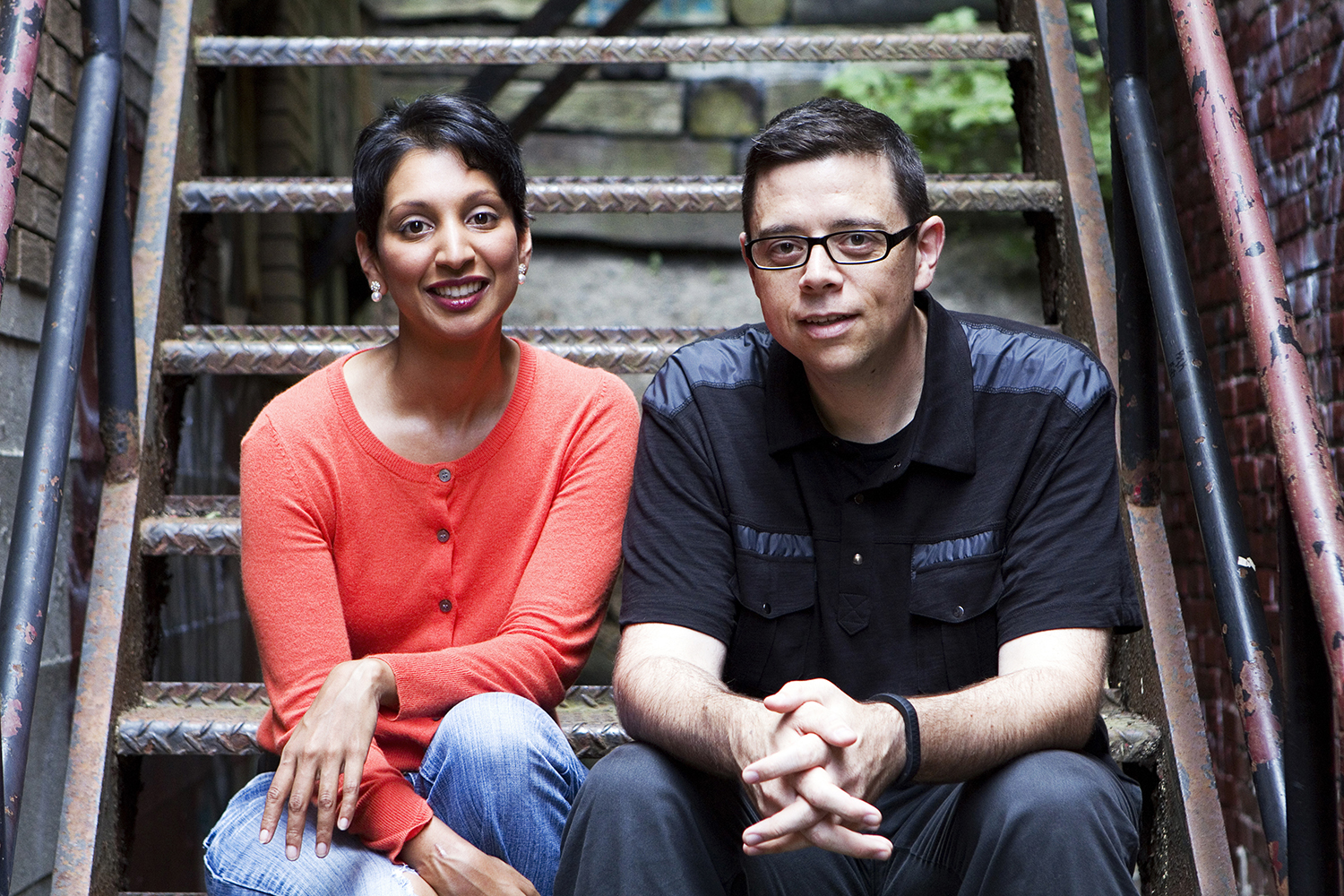 PHOTO CREDIT: Above photo of Aron Gaudet and Gita Pullapilly, directors of Beneath The Harvest Sky, is from  here  .