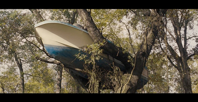 PHOTO CREDIT: Above is a screenshot Mud's boat-in-a-tree house.