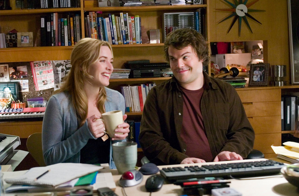 Image of Kate Winslet and Jack Black from  The Holiday  via  Google .