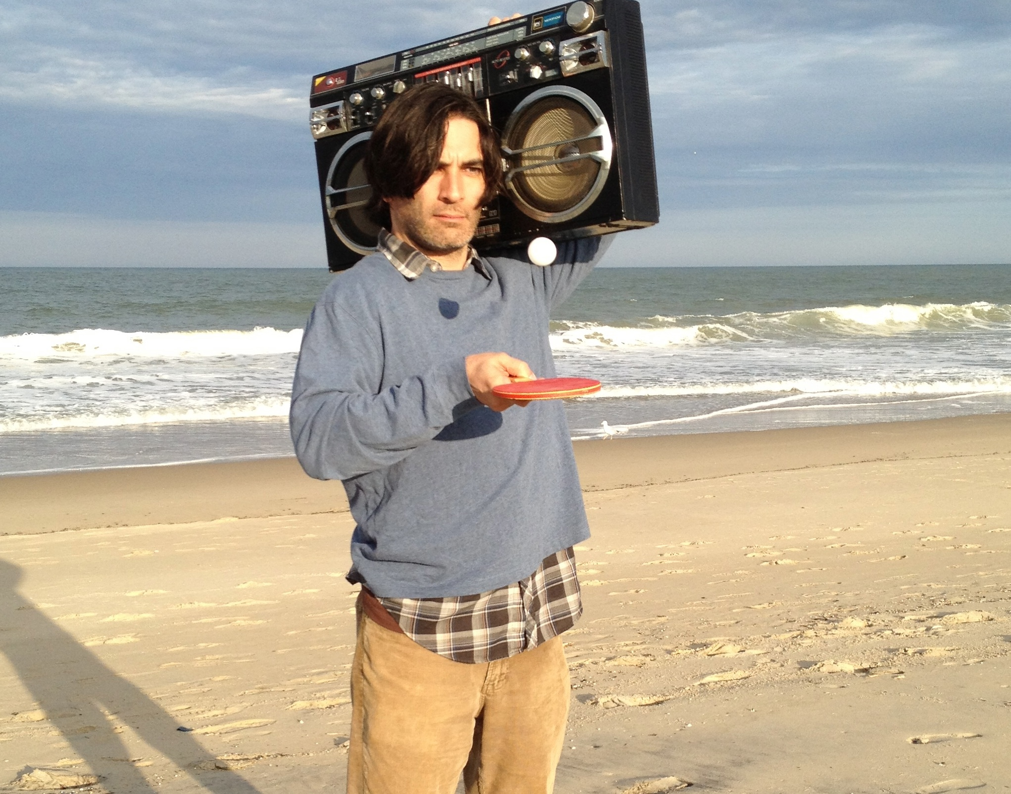Image of Michael Tully, director of  Ping Pong Summer  on the beach of Ocean City, Maryland via  Google .