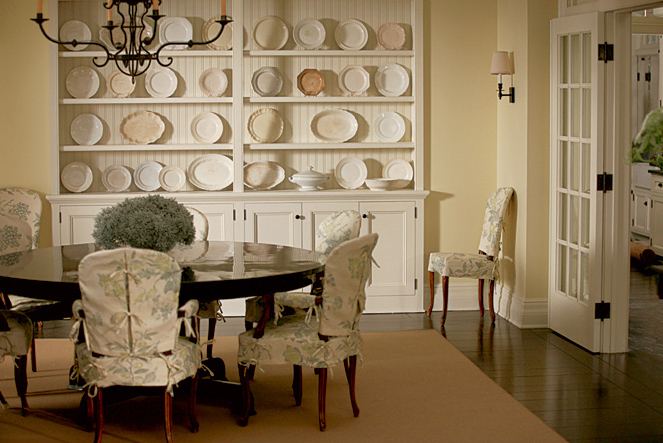 PHOTO CREDIT:  Above is a photo of Erica's dining room(photo from Architectural Digest ).