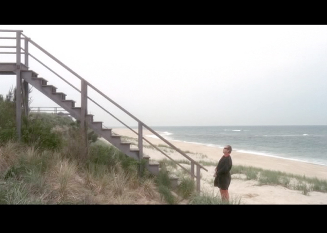 PHOTO CREDITS:  Above photos are screenshots from the movie - both were filmed at Flying Point Beach.
