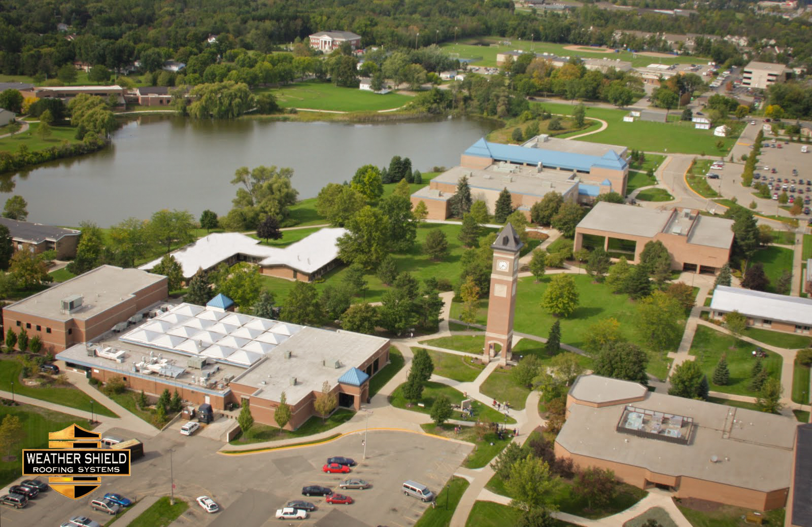 PHOTO CREDIT: Above image is an aerial view of Cornerstone University   via  Google .