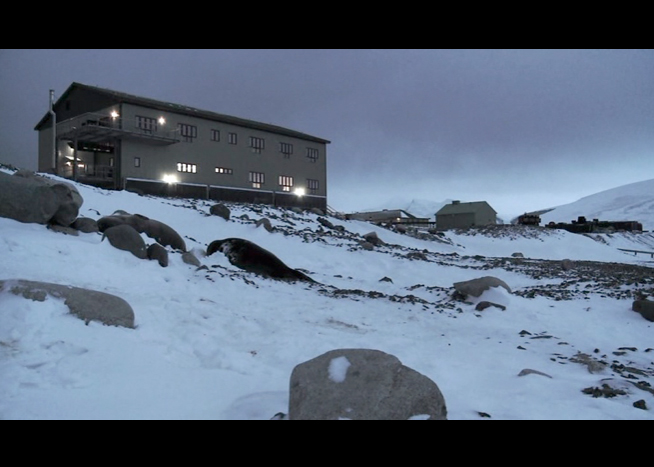 PHOTO CREDIT: The above is a screenshot of the buliding where the workers work and live during the long winter months.